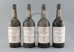Four bottles of Grahams 1970 Vintage Port