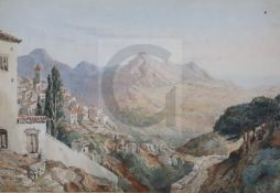General Sir John Miller Adye R.A. (1819-1900)watercolour'Gaucin' (Southern Spain)titled, signed 'J