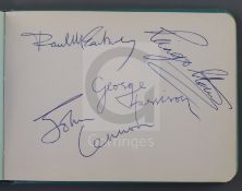 The Beatles, Rolling Stones, etc. A 1960's autograph album, with all four Beatles autographs