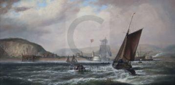 Isaac Walter Jenner (1836-1902)oil on canvasNewhaven Harboursigned8 x 16in.