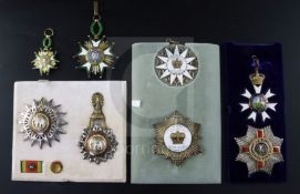 A group of medals awarded to Sir Abdol Hossein Hamzavi KCMG (1910-1979) Iranian diplomat, author and