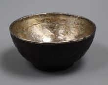 An 18th / 19th century Chinese coconut cup diameter 11cm