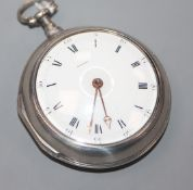 James Wilson, Westminster, a silver pair-cased key-wind pocket watch, No. 239.