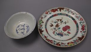 A Chinese bowl and dish