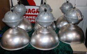 A set of six industrial lights