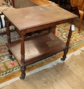 A Victorian mahogany two tier table W.76cm