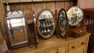Three toilet mirrors largest W.60cm
