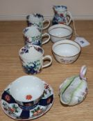A group of 18th century Worcester porcelain tea and coffee wares