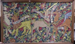 A machine tapestry Medieval style