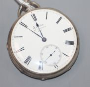 Arnold, Chas., Frodsham, a silver open-face pocket watch, no 8662, with Roman dial and subsidiary