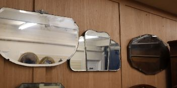 Four 1930's wall mirrors