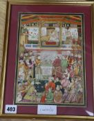 Indian School, gouache and watercolour on paper heightened with gilt, A gathering of noblemen, 26