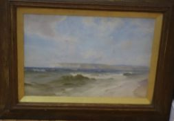 John Fraser (1858-1927) watercolour, View of Newhaven, signed, 35 x 54cm
