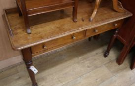 A Victorian mahogany side table W.116cm