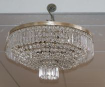 A contemporary Bohemian crystal chandelier, retailed by Harrods Diam.55cm