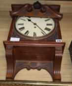 A fusee carved wall clock