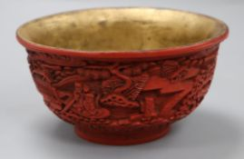 A red lacquer bowl
