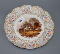 A Meissen outside decorated circular porcelain dish diameter 29cm