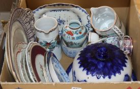 A group of 19th century porcelain and pottery