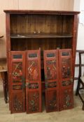 A Chinese lacquer cabinet H.164cm