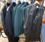 Five military style jackets and two leather coats from Tosca opera