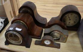 Seven assorted mantel clocks
