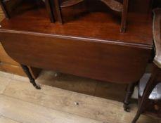 A Regency mahogany Pembroke table W.90cm