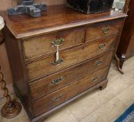 A George III mahogany five drawer chest W.108cm