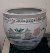 A Chinese glazed fish bowl diameter 50cm