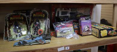 1970s-1980s vintage toys, including five carded Tonka Super Naturals action figures etc.