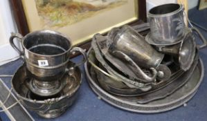 A quantity of plated wares
