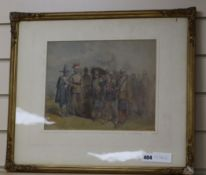 George Cattermole RWS (1800-1868), watercolour, King Charles I, being led away by
