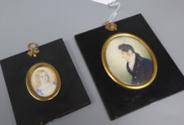 Two portrait miniatures