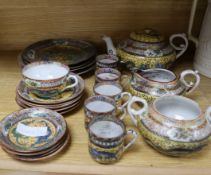 A 20th century Chinese porcelain part teaset