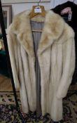 A vintage blond mink coat
