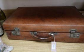 A vintage leather suitcase by John Pound & Co, Regent Street