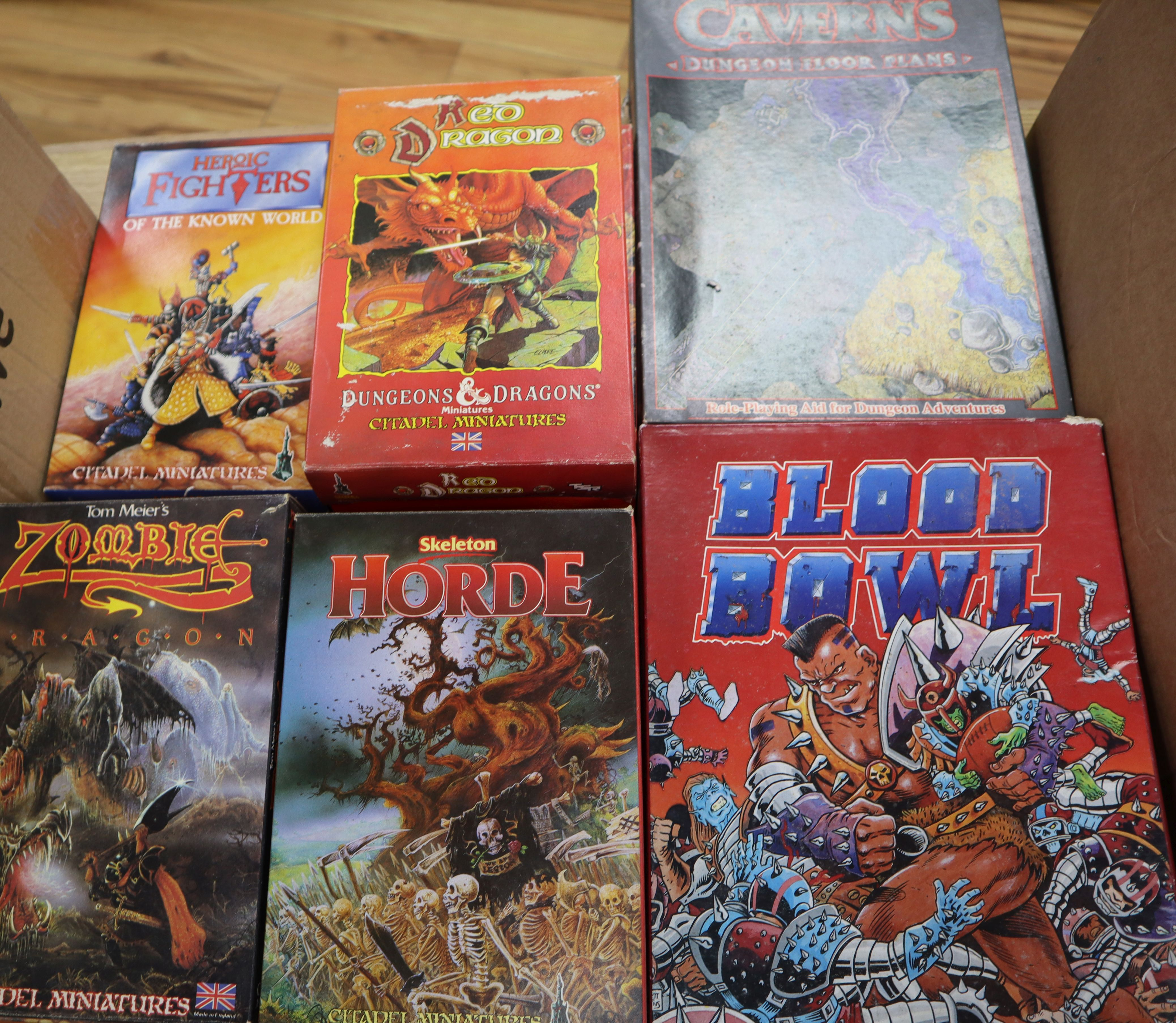 Lot 12 - Citadel Miniatures and Prince August: a large quantity of boxed plastic and white metal Fantasy