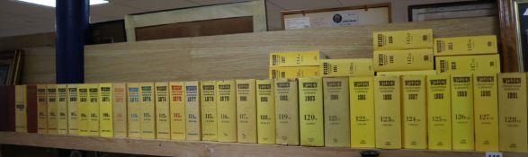 Wisdens Cricket Run of 1954-2011 (58 editions)