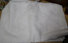 A collection of linen and lace, including Christening gowns, etc.