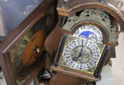 Assorted clocks, movements and scales