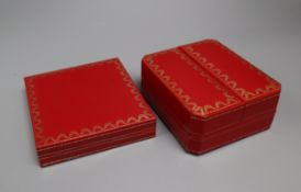 Two Cartier boxes