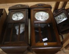 Four wall clocks tallest 78cm