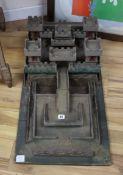 A scratch built model of a castle
