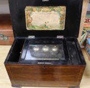 A Swiss eight air musical box width 42cm