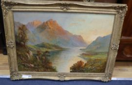 Graham Williams (A.K.A. Francis Jamieson 1895-1950), oil on canvas, Helvellyn, Thirlmere, Lake