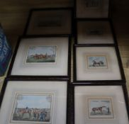 After Alken, seven colour prints, Racing scenes, largest 10 x 14cm