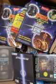 A collection of vintage Star Wars VHS tapes, DVDs, PC/console games etc. see Gorringes website