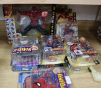 Spider-Man - Toy Biz/Hasbro - action figures, 10 carded and one boxed