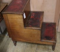 A Regency mahogany step commode H.68cm