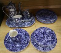 A collection of Burleigh Calico tea and dinner wares